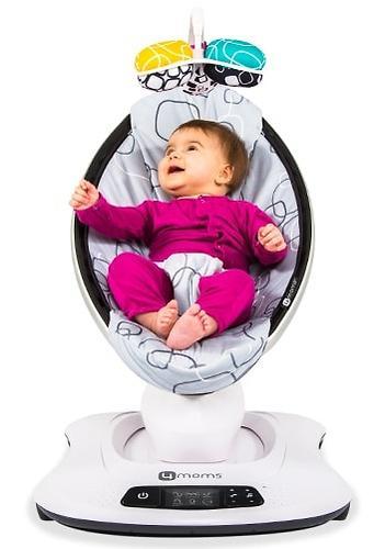 Кресло-качалка 4moms MamaRoo4 Silver plush (8)