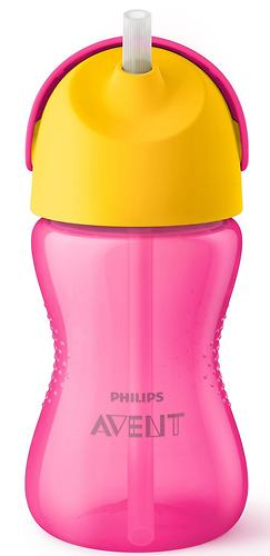 Чашка с трубочкой Avent 300мл 9 мес+ Для Девочки (6)