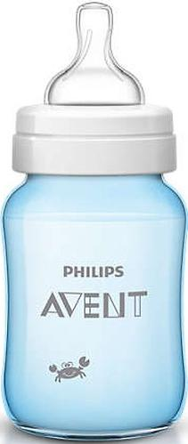 Бутылочка Avent Classic+ 260мл, голубой краб (8)