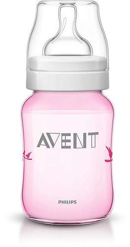 Бутылочка Avent Classic 260 мл 1мес+ розовая с птицами (9)