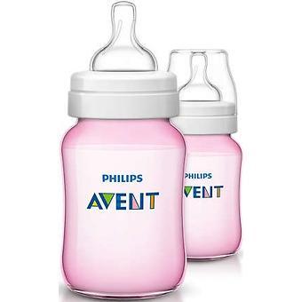 Бутылочка Avent Classic+ 260мл 2шт розовая - Minim