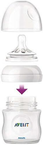 Бутылочка Avent для кормления стеклянная Natural 120мл (7)