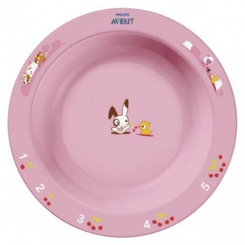 Тарелка глубокая Avent 450 мл 12м+ голубой или розововый (5)