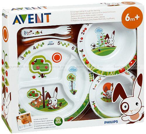 Набор детской посуды Avent 6+ (4)