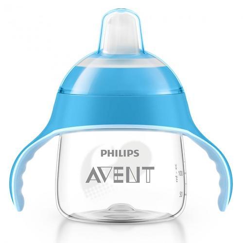 Сменный силиконовый носик Avent для поильника голубой/розовый (7)