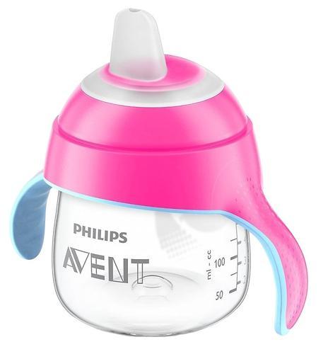 Сменный силиконовый носик Avent для поильника голубой/розовый (8)