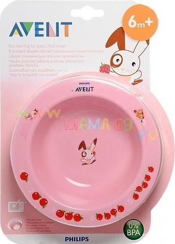 Тарелка Avent глубокая малая 6 мес+ в ассортименте (4)