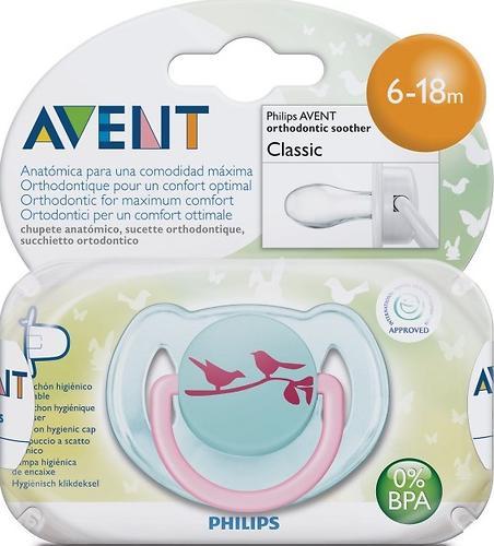 Пустышка Avent Дизайн 6-18 мес для девочки 1 шт/уп (4)