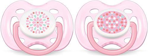 Пустышка Avent силикон FreeFlow серия Дизайн 0-6 мес (2 шт/уп) для девочек (3)
