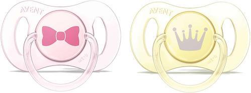 Пустышка Avent Mini силиконовая для девочек 0-2 мес 2шт (8)