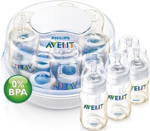 Стерилизатор Avent для микроволновой печи c 4 бутылочками в комплекте (8)