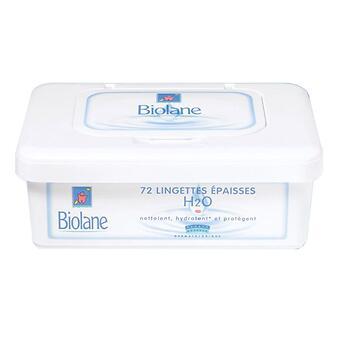Салфетки очищающие, увлажняющие BIOLANE LINGETTES EPAISSES DOUCEUR - Minim