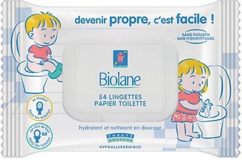 Салфетки Biolane детские растворяющиеся в воде 54 шт (1)