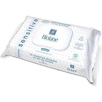 Салфетки Biolane очищающие увлажняющие для чувствительной кожи 72 шт - Minim