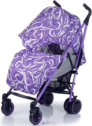 Коляска-трость BabyHit Handy White Violet (6)