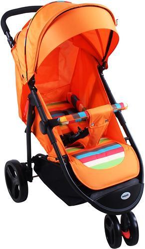 Коляска BabyHit TRINITY Orange Strips (4)