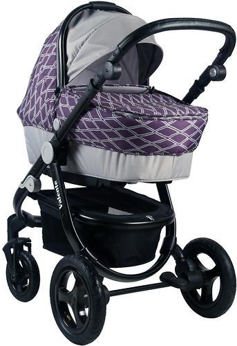 Коляска BabyHit 2в1 Valente Violet Grey (9)