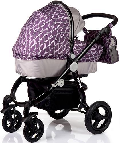 Коляска BabyHit 2в1 Valente Violet Grey (10)