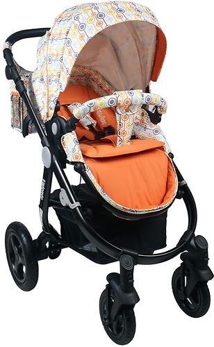 Коляска BabyHit 2в1 Valente White Orange (11)