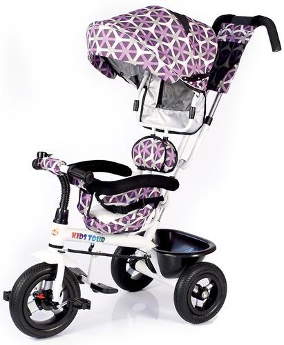 Трицикл BabyHit Kids Tour White-Violet (7)