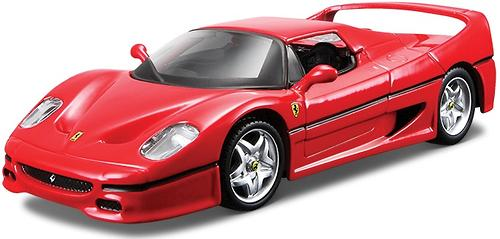 Машинка Bburago Ferrari F50 металлисекая со светом и звуком (1)