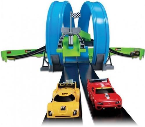 Трасса Bburago с 2-мя треками и 2-мя инерционными машинами Go Gear (7)