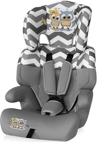 Автокресло Bertoni Junior 9-36 кг Grey Baby Owls 1736 (1)
