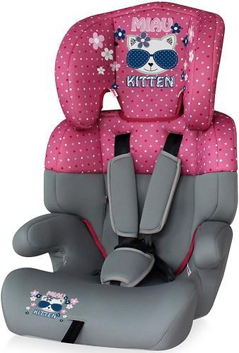 Автокресло Bertoni Junior 9-36 кг Pink Kitty 1723 (1)