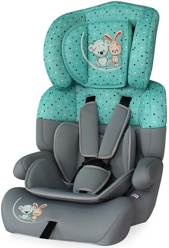 Автокресло Bertoni Junior Plus 9-36 кг Grey-Green Best Friends 1704 (1)