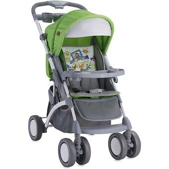 Коляска Bertoni APOLLO + сумка для мамы Green-Grey Car 1714 - Minim