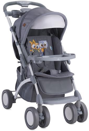 Коляска Bertoni APOLLO + сумка для мамы Grey Baby Owls 1729 (5)