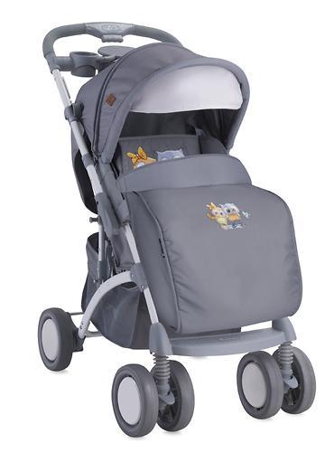 Коляска Bertoni APOLLO + сумка для мамы Grey Baby Owls 1729 (6)