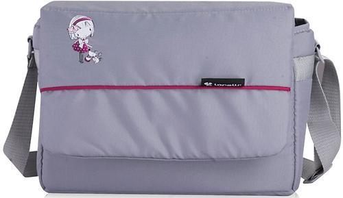 Коляска Bertoni APOLLO + сумка для мамы Grey-Pink Girl 1644 (6)