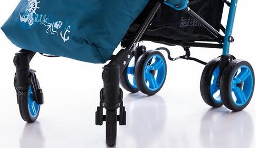Коляска Bambini Shuttle + накидка на ножки Green Elephant (10)