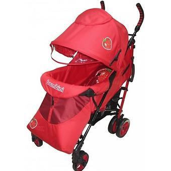 Коляска Bambini Shuttle + накидка на ножки Red Strawberry - Minim