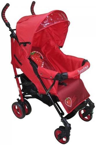 Коляска Bambini Shuttle + накидка на ножки Red Strawberry (7)