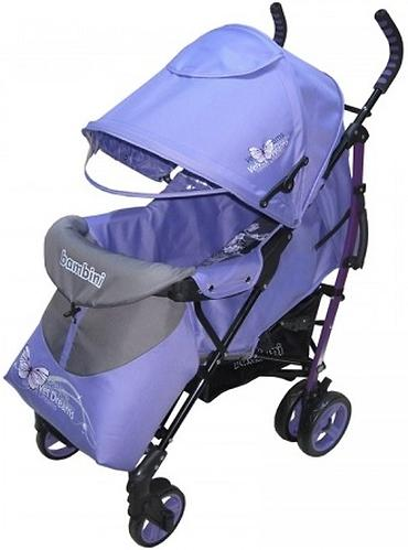 Коляска Bambini Shuttle + накидка на ножки Violet Butterfly (7)