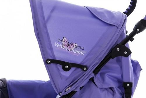 Коляска Bambini Shuttle + накидка на ножки Violet Butterfly (11)