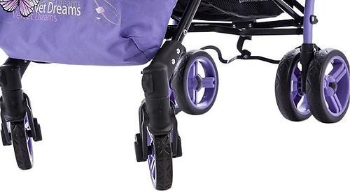 Коляска Bambini Shuttle + накидка на ножки Violet Butterfly (12)
