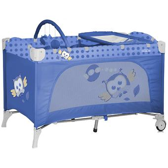 Кровать-манеж Bertoni Travel Kid 2 Blue Baby Owls 1418 - Minim
