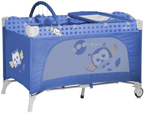 Кровать-манеж Bertoni Travel Kid 2 Blue Baby Owls 1418 (1)
