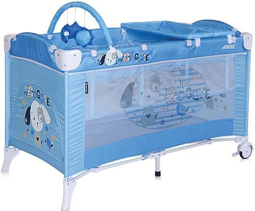 Кровать-манеж Bertoni Arena 2 Plus Blue Doggie 1626 (1)