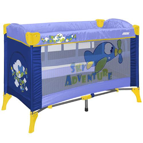 Кровать-манеж Bertoni Arena 2 Blue sky Adventure 1401 (1)