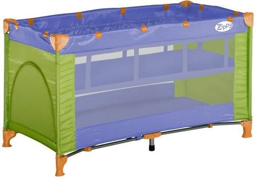 Кровать-манеж Bertoni Zippy 2 Green&Violet 1409 (1)