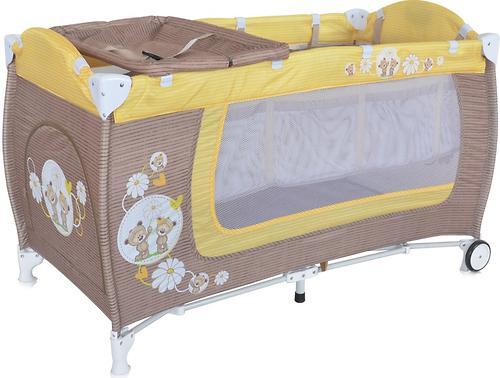 Манеж Bertoni Danny 2 Biege Yellow Daisy Bears 1717 (1)
