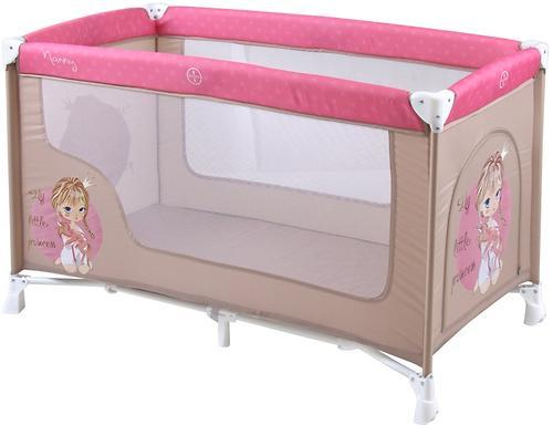 Кровать-манеж Lorelli Nanny 1 Biege Rose Princess 1703 (1)