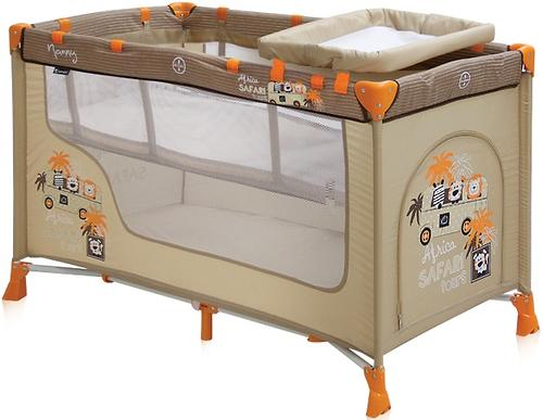 Кровать-манеж Bertoni Nanny 2 Beige Safari Tours (3)