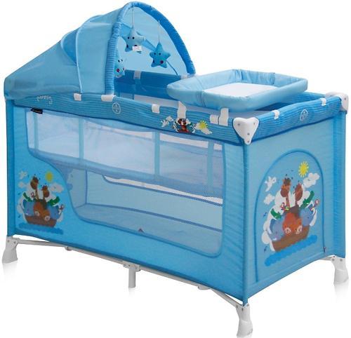Кровать-манеж Bertoni Nanny 2 Plus Blue Adventure 1610 (3)