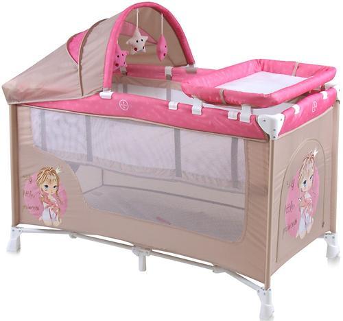 Кровать-манеж Bertoni Nanny 2 Plus Biege Rose Princess 1703 (3)