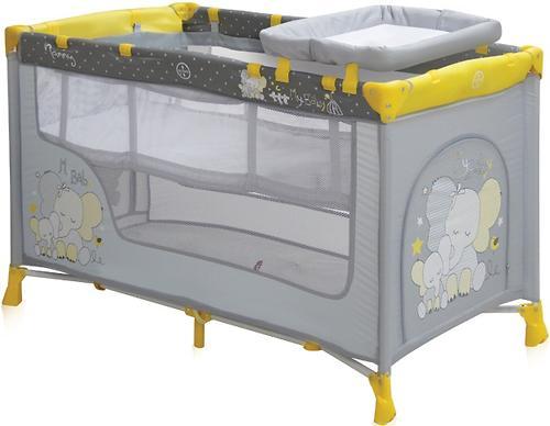Кровать-манеж Bertoni Nanny 2 Yellow Elephants 1611 (3)